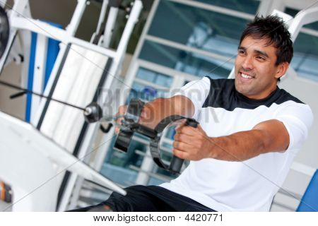 Man At The Gym - Weights