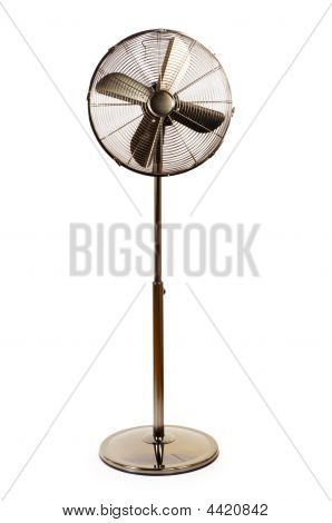 Electric Fan Isolated On  The White Background
