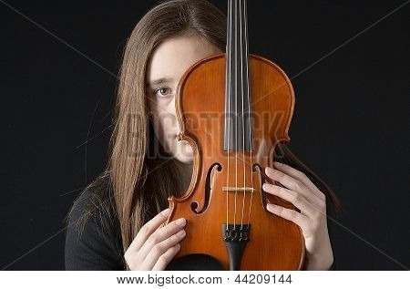 Girl Behind Violin
