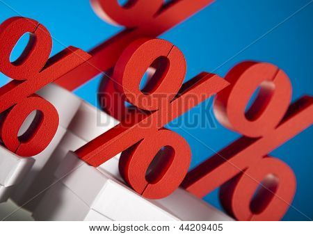 Concept of discount, Percent sign