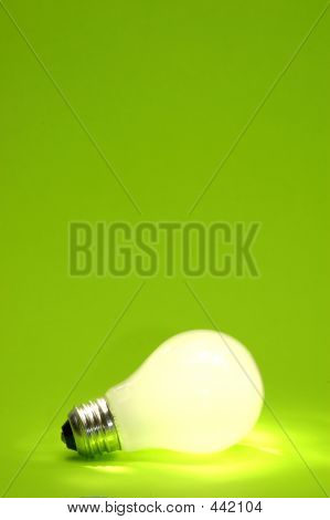 Green Lightbulb Background