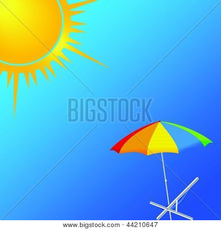 Beauty Beach Vector Illustration Part Two