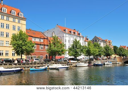 Copenhagen. Beautiful Quay In Christianshavn