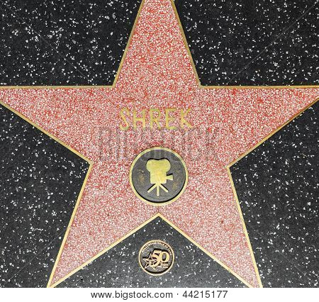 Shreks Star On Hollywood Walk Of Fame