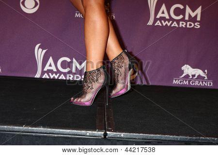 LAS VEGAS - MAR 7: Miranda Lambert in de perszaal op de 2013 Academy of Country Music Awards op