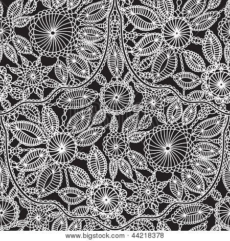 Beautiful Lace Crochet Work Vector Seamless Wallpaper Pattern Background For Cards Invitations Books