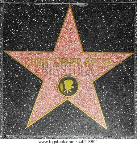 Christopher Reeves Star On Hollywood Walk Of Fame