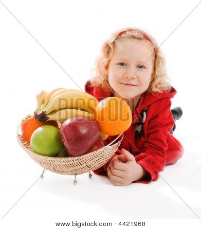 Girl And Fruit