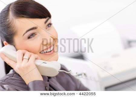 Bussinesswoman Talking On Phone