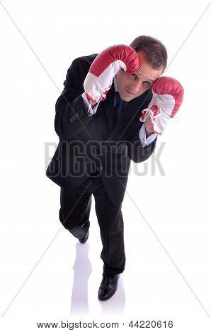 Defensive Businessman