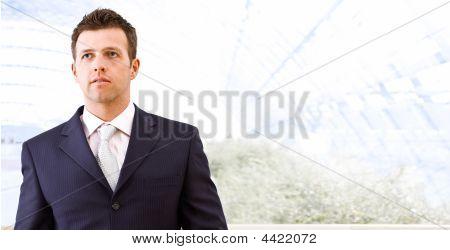 Mid-adult Businessman Indoors