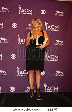 LAS VEGAS - MAR 7: Miranda Lambert in de perszaal op de 2013 Academy of Country Music Awards op
