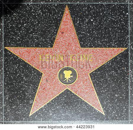 Kevin Klines estrela na Hollywood Walk da fama