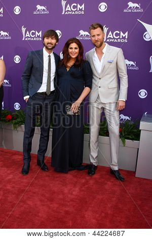 LAS VEGAS - MAR 7:  Lady Antebellum arrives at the 2013 Academy of Country Music Awards at the MGM Grand Garden Arena on March 7, 2013 in Las Vegas, NV