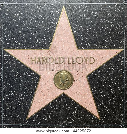Harold Lloyds estrela na Hollywood Walk da fama