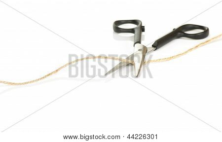 Scissors Cutting String