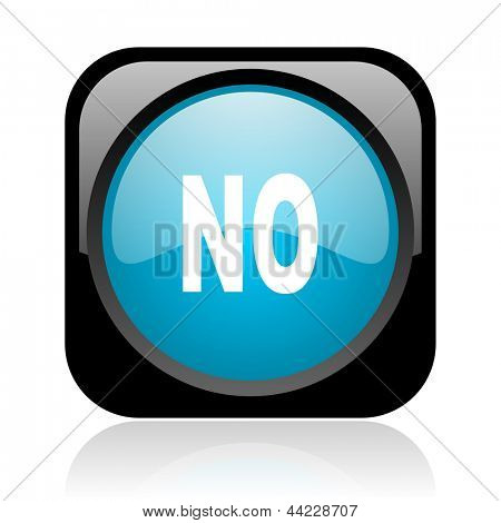 no black and blue square web glossy icon