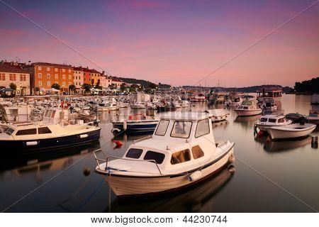 European town at adriatic sea