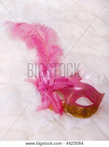 Masquerade Mask With Feather