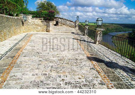 Altos de Chavon with view on river