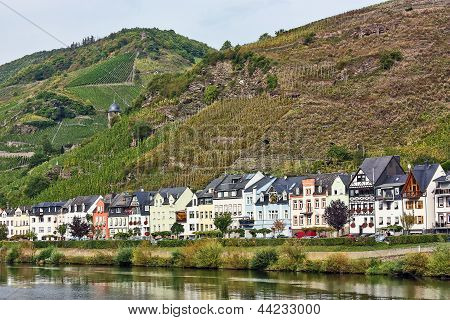 On The Banks Of The Mosel River,germany