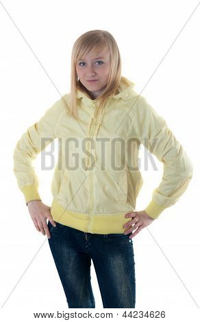 Blonde In The Yellow Jacket