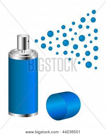 Spray in blue design