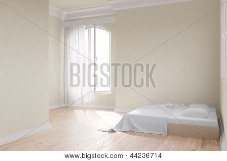 Yellow Room With Bed
