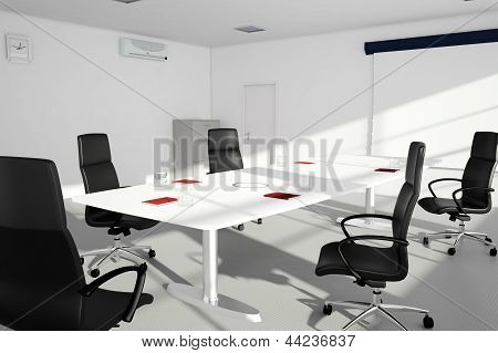 Office Setup With Table And Chairs