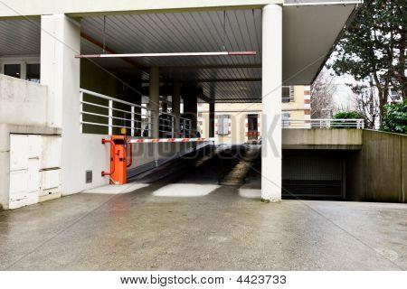 Parking Lot Entrance
