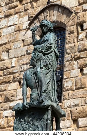 Florence - The statue of Judith and Holofernes.