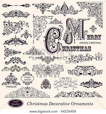 Vector set of Ornaments and Decorative Elements