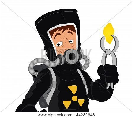 Uranium - Vector Character Illustration