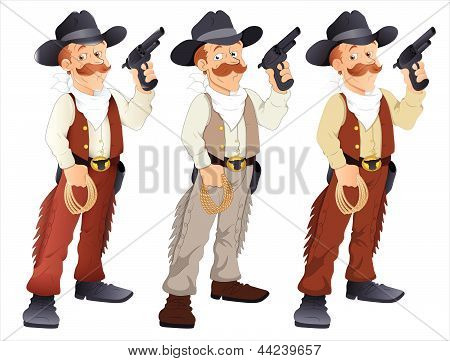 Cowboy - Vector Character Illustration