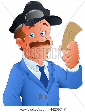 Policial - ilustração de personagem de vetor