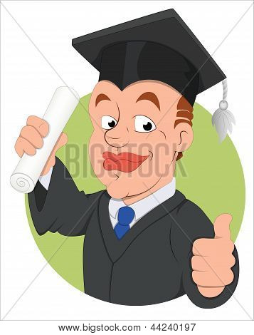 Graduation Day -  Vector Character Illustration
