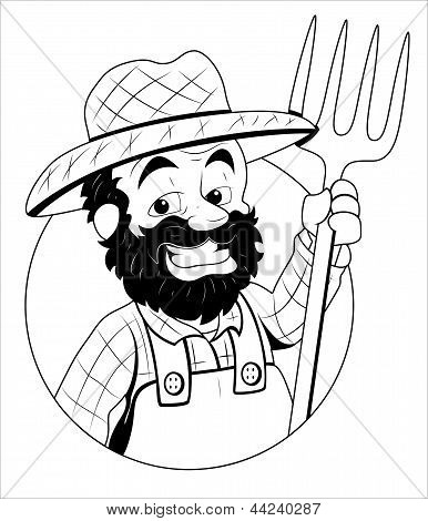 Farmer - Vector Illustration