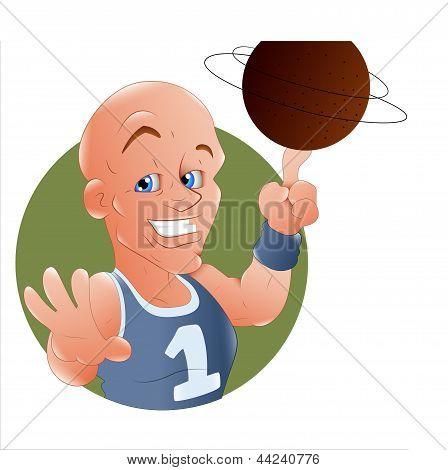 Ilustração de jogador de basquete