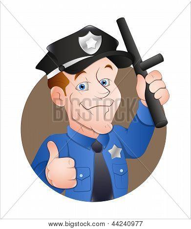 Policial de desenhos animados