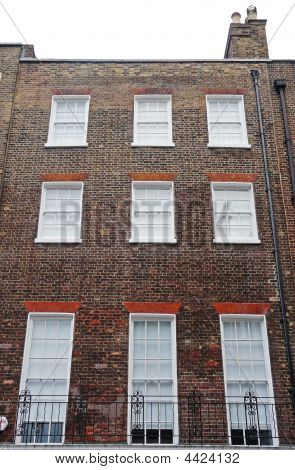 Georgian Windows On A Building Exterior