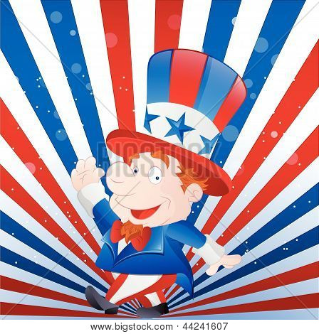 Cute Kid Uncle Sam