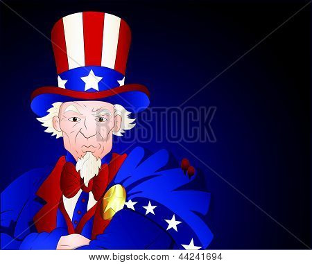 Uncle Sam Closeup Portrait