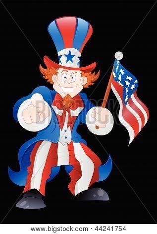 Patriotic Uncle Sam Vector