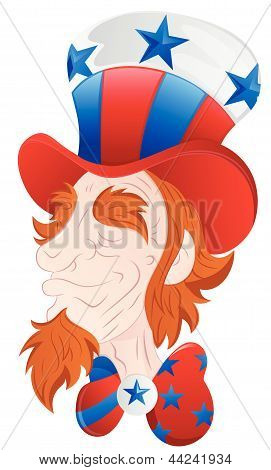 Uncle Sam Face Closeup