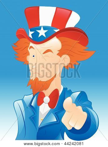 Winking Uncle Sam Vector