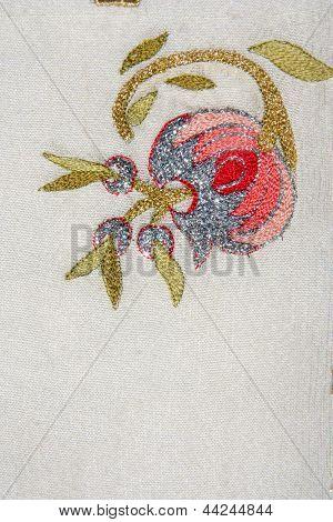 turkish needlework on quilt