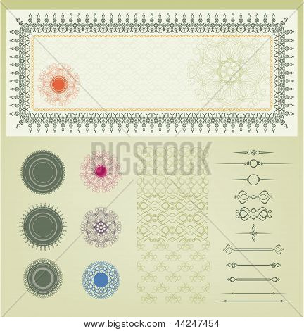 Vector Set Of Decoration Element