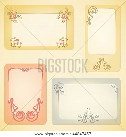 Vector Set Of Art Nouveau Labels