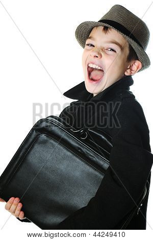 Boy with a case