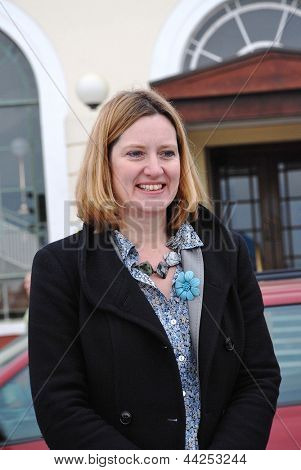HASTINGS, ENGLAND - MARCH 12: Amber Rudd, Conservative party Member of Parliament for Hastings and Rye, attends a charity event on March 12, 2011 at Hastings, East Sussex.